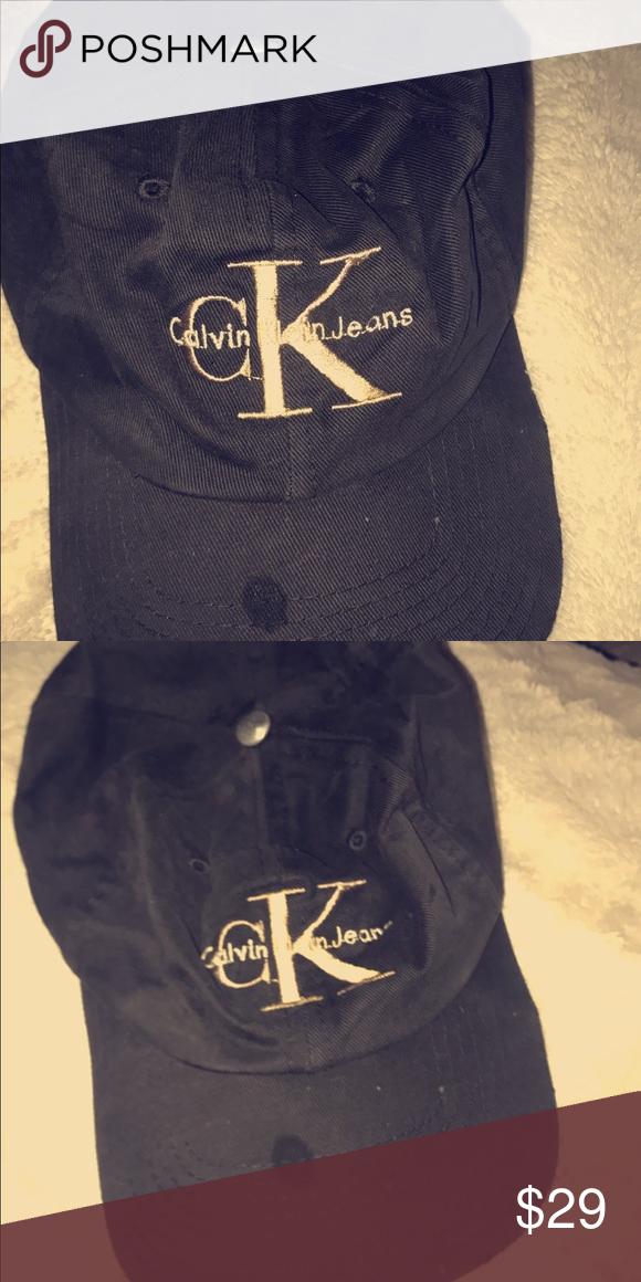3de2cdd50202ac Black Calvin Klein baseball cap hat Ck. No stains or rips Accessories Hats