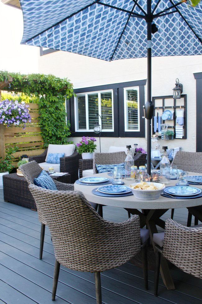 Outdoor Living - Summer Patio Decorating Ideas - Clean and Scentsible
