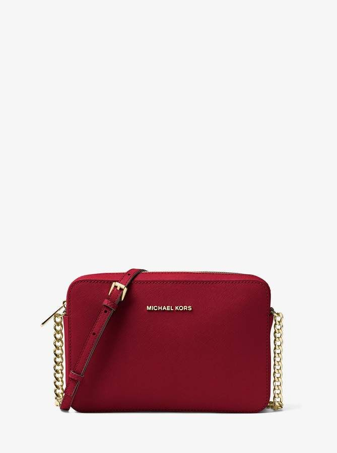 321c5afb66c6 MICHAEL Michael Kors Jet Set Large Saffiano Leather Crossbody ...