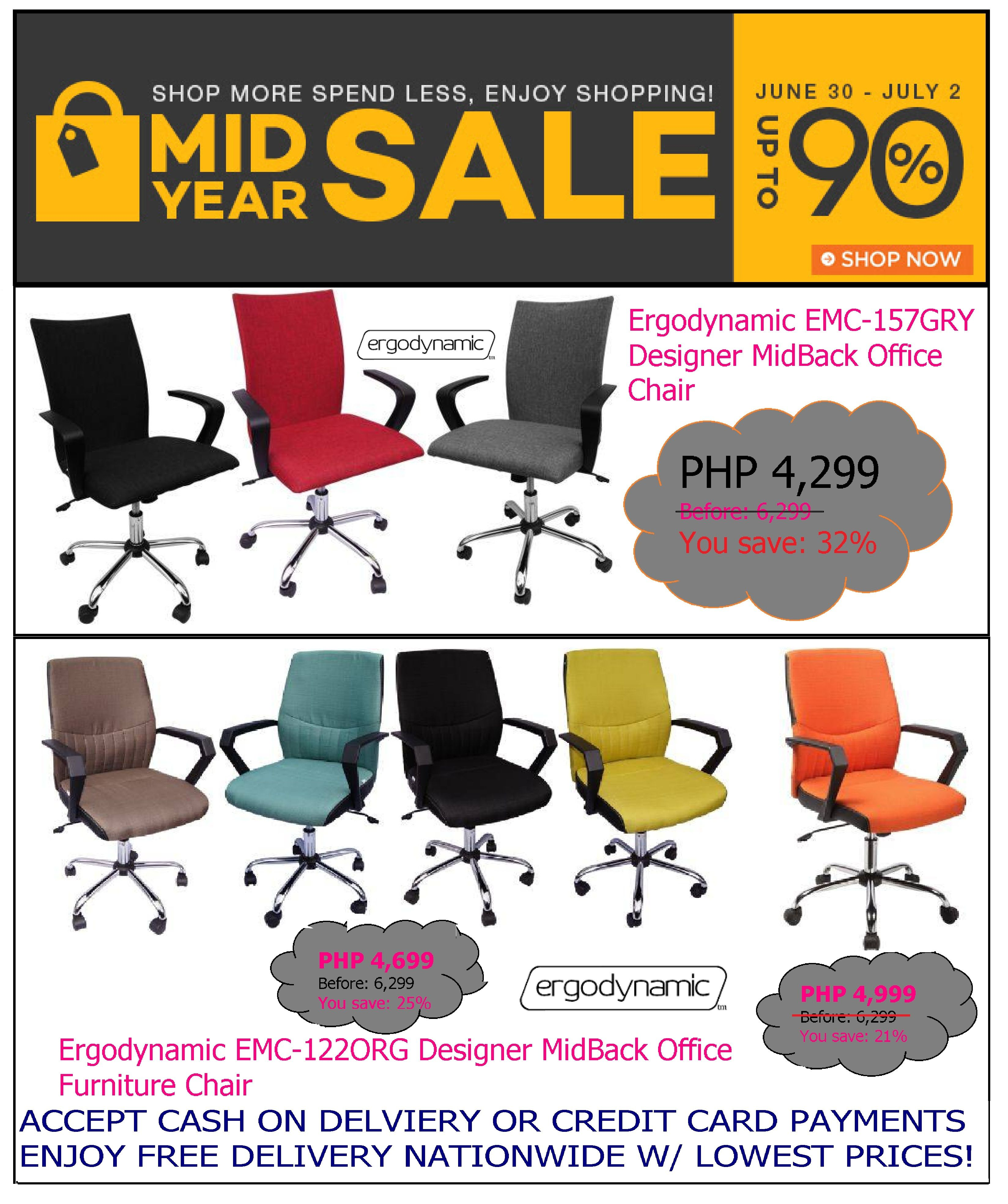 office furniture - office chair sale @lazada-mid year sale