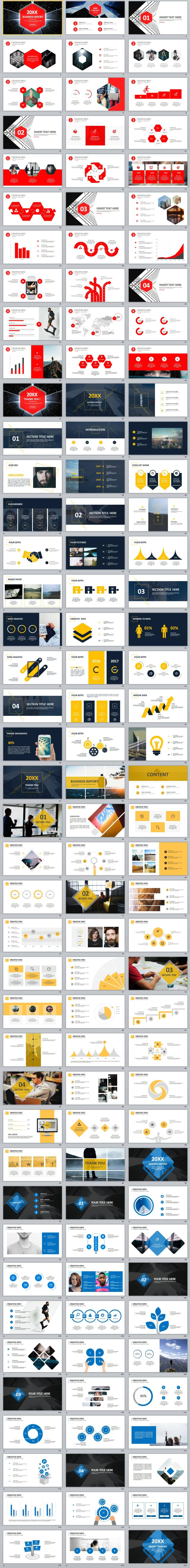 4 in 1 proposal for report PowerPoint template