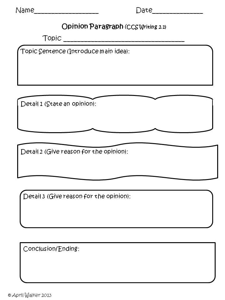 from The Idea Backpack, Common Core Paragraphs - Graphic Organizers ...