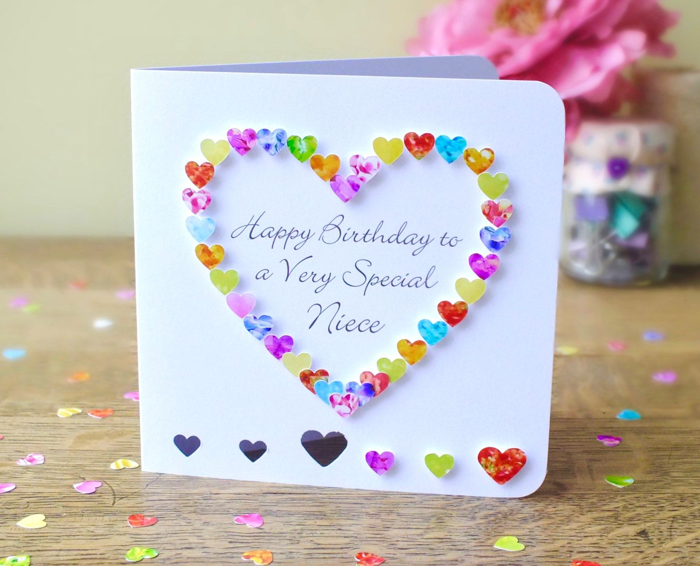 Niece Birthday Card Handmade Happy Birthday To A Very Special Niece Cards Colourful