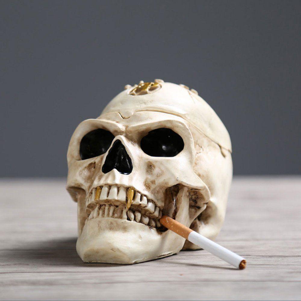 Terrifying Halloween Decorations -- Spooky Human Skull