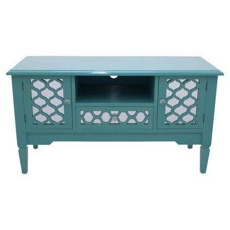 Beau Add A Pop Of Style To Your Living Room Or Den With This Wood Media Cabinet,  Showcasing Trellis Patterned Drawer Fronts And 2 Doors.