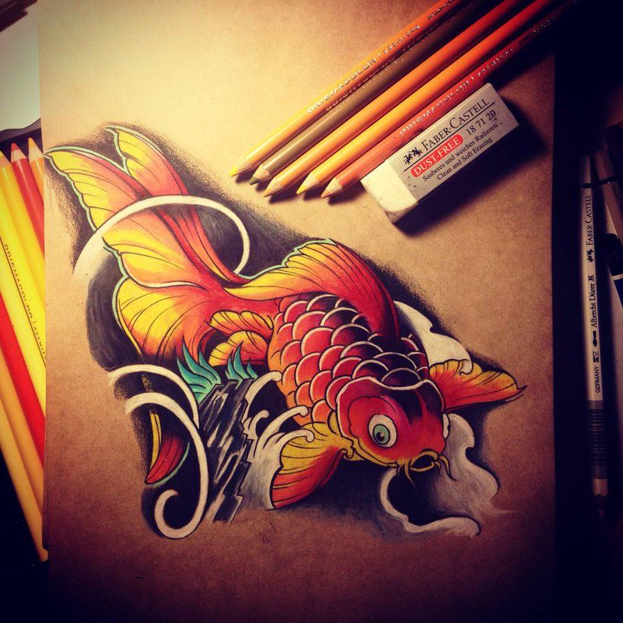 Golden Fish by Dirtfinger1404 on DeviantArt