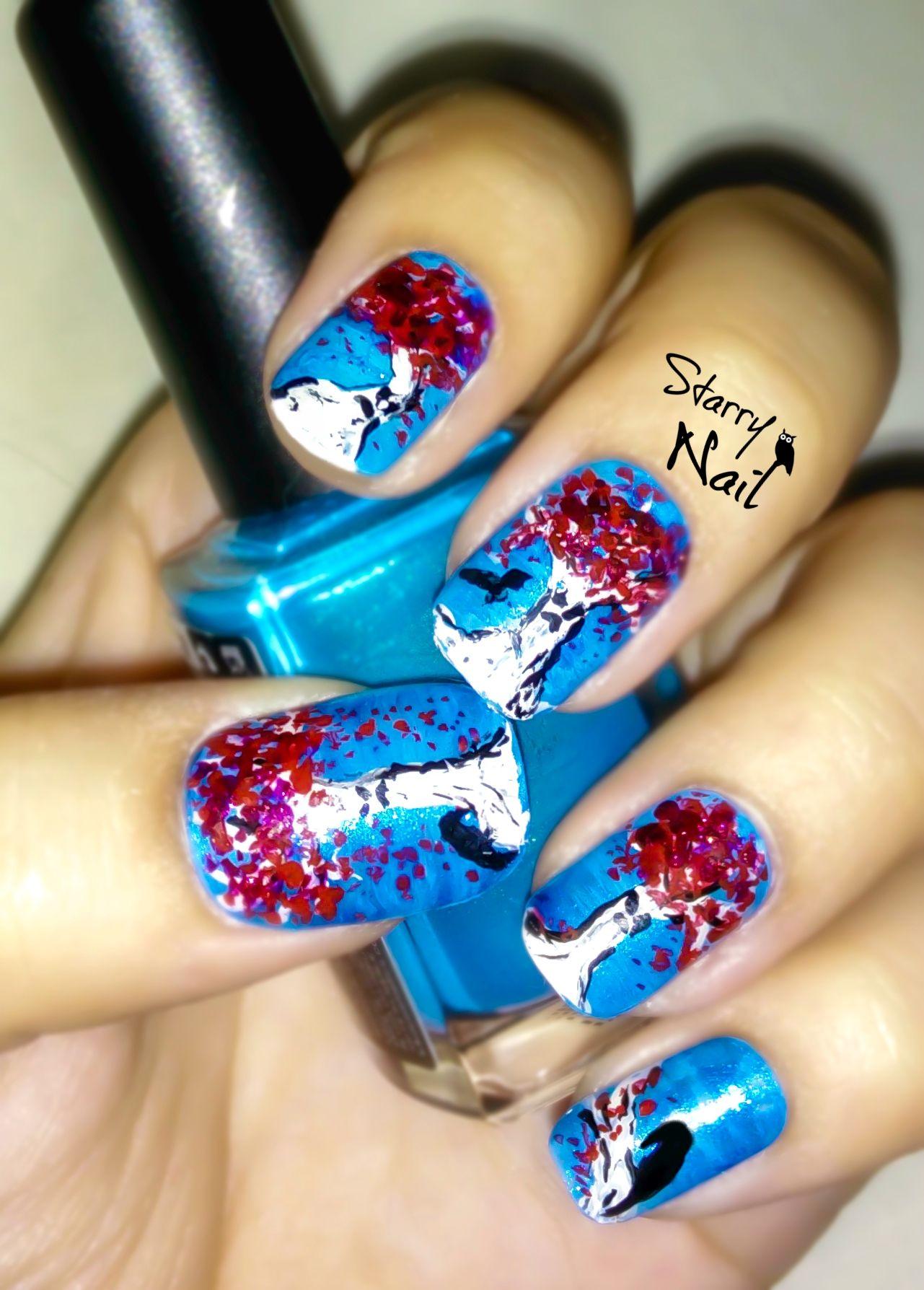 Game of Thrones Weirwood Nail Art | Pretty nail art, Tree ...
