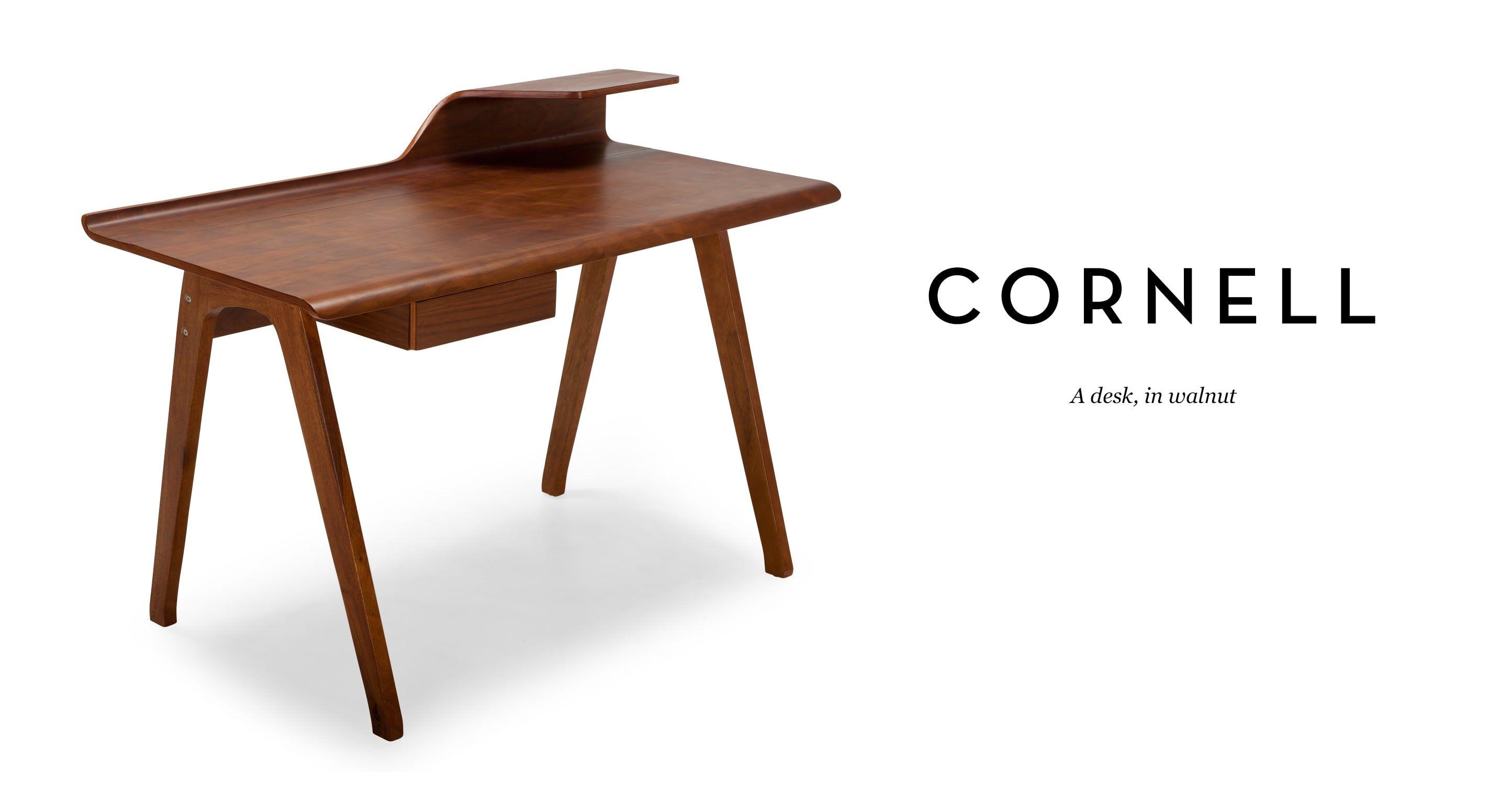 Cornell Desk Walnut Schreibtisch Tisch Walnuss