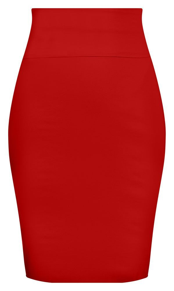 3e821d54c Bow Back Pencil Skirt - Red
