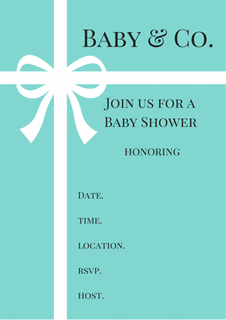 free tiffany & co. inspired baby shower invitations - baby shower, Baby shower invitations