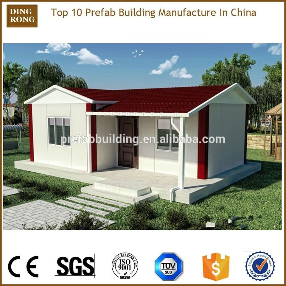 Wonderful China 40m2 One Bedroom Sip Panel Cement Prefabricated House