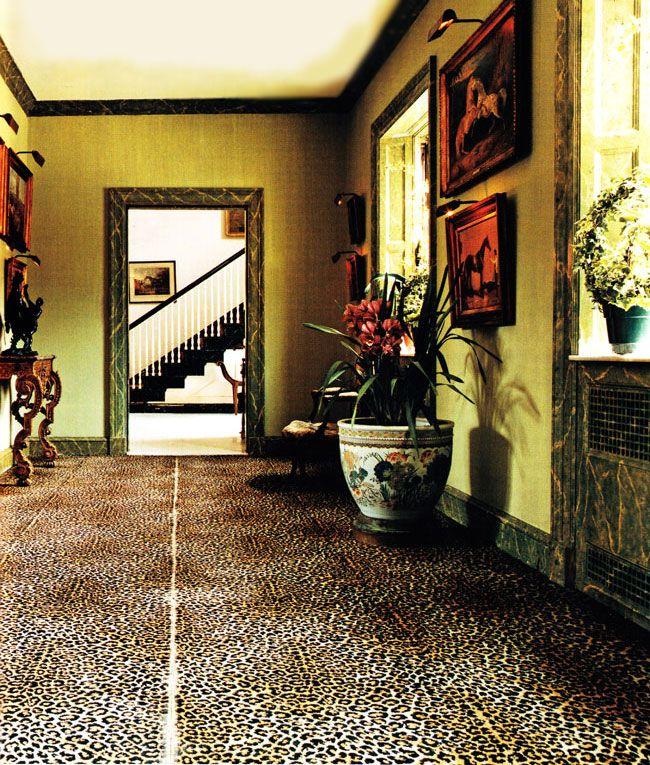 Old Westbury Gardens Floor Plan: C.Z. Guests' World-famous Leopard Carpet.