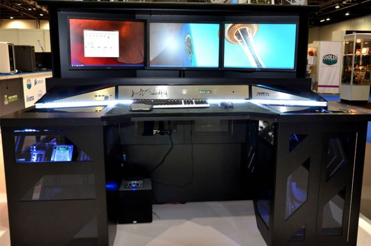 14 Custom Gaming Computer Desk Images Ideas Computer Desks For