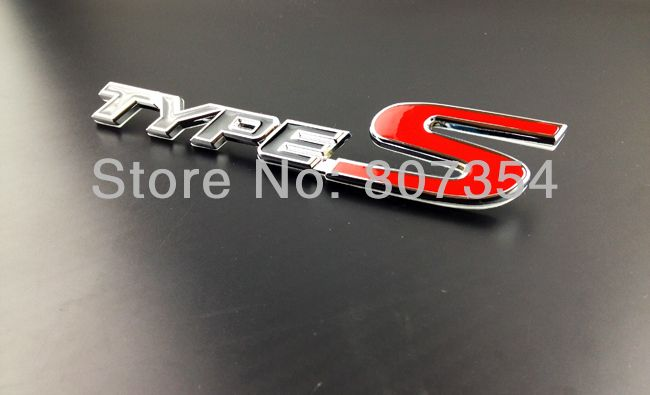 Excellent Black Red TYPE S Metal Rear Car Badge Sticker For Honda - Acura type s emblem