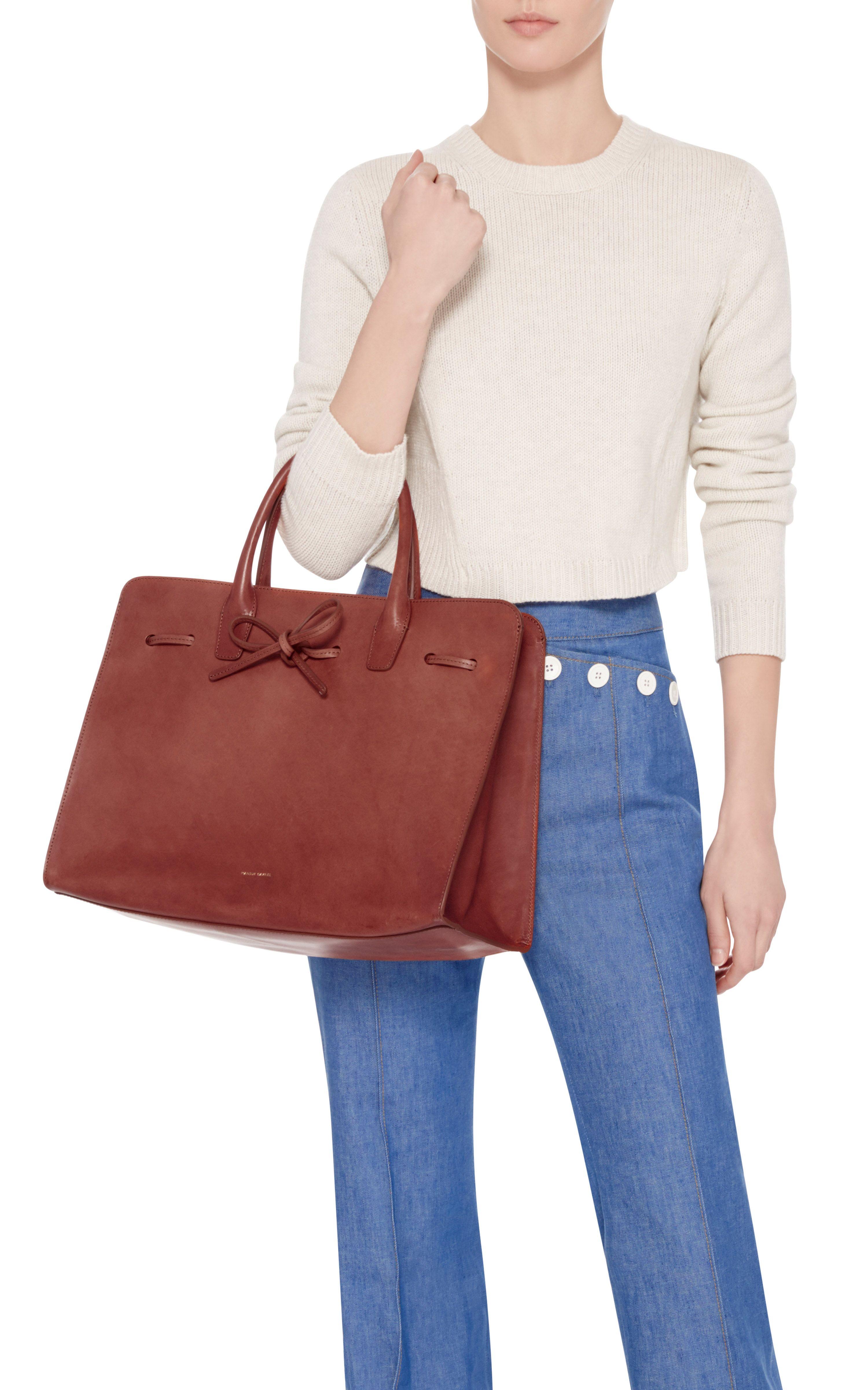 7cbf6b3840afc Mansur Gavriel Fall Winter 2016 - Large Sun Bag in vegetable tanned leather  - pre-order now on Moda Operandi