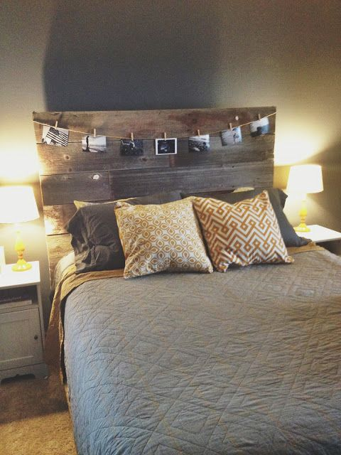Follow your arrow turning old barn wood into a headboard for Backboard ideas for beds