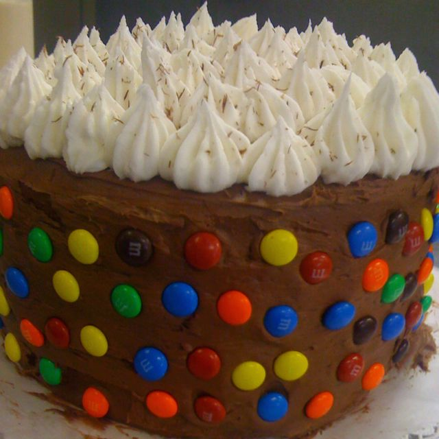Chocolate cake with chocolate buttercream icing