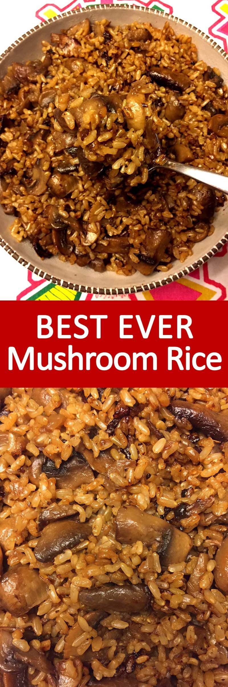 Photo of Mushroom Rice Recipe With White Or Brown Rice