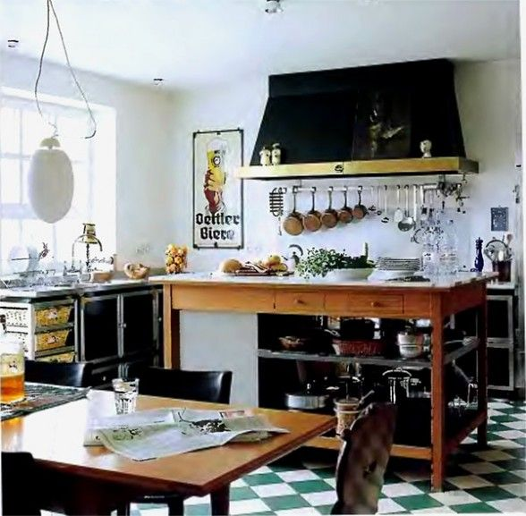 checkered floor | Country Home | Pinterest