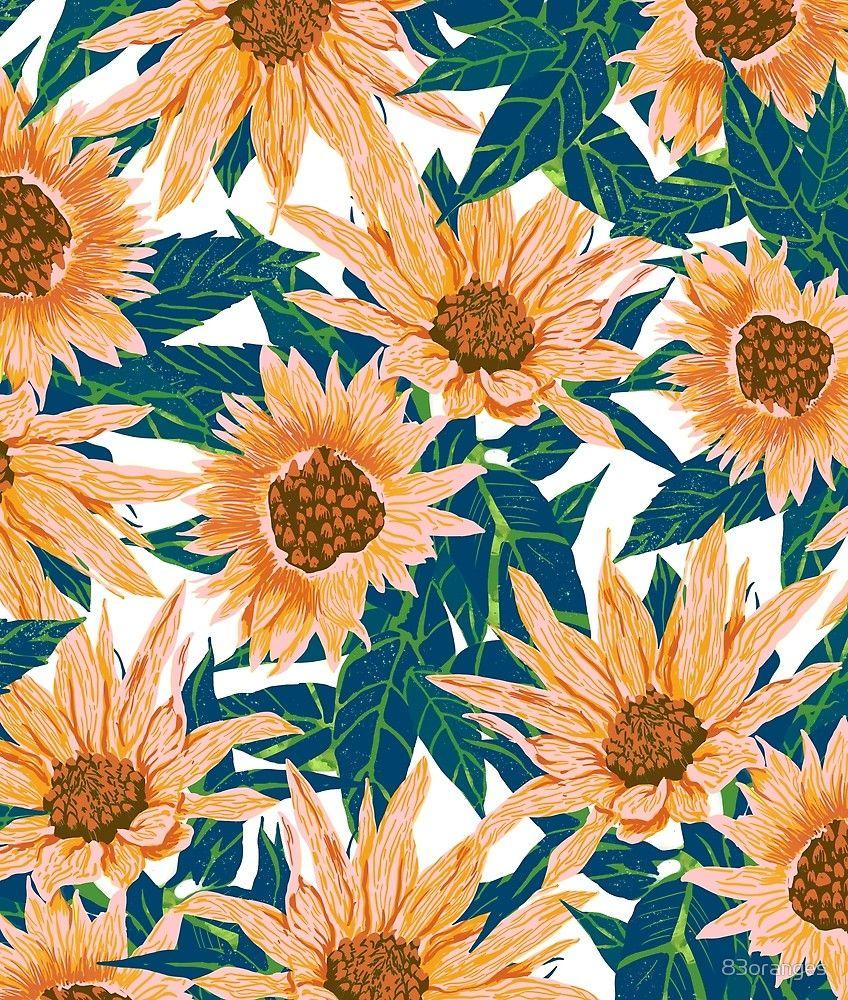 Blush Sunflowers by 83oranges   Sunflower illustration ...