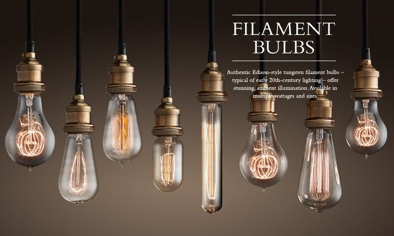 Love All The Different Shapes Of These Edison Bulbs Restoration