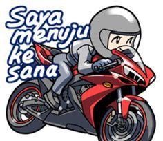 Sepeda Motor Vol 1 Di 2020 Kartun Ilustrasi Komik Gambar Lucu