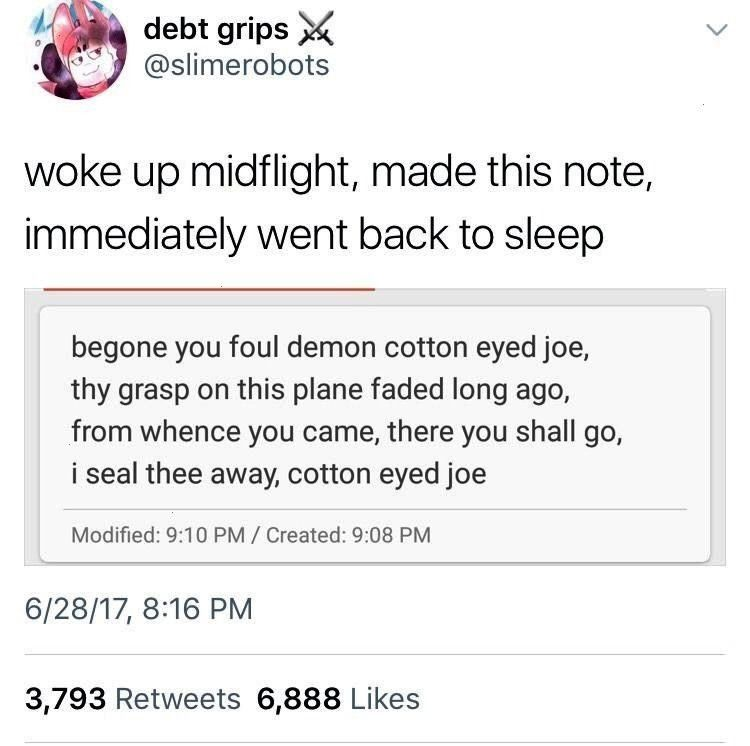 to keep cotton eyed joe sealed away Sunnysundown reblog to keep cotton eyed joe sealed away  F dankmemeuniversity mcdonalds employee please sir get off the table me I ASK...