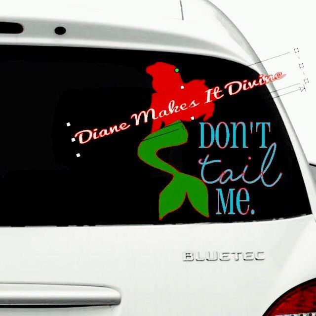 Little Mermaid Car Decal Disney Car Decal Vinyl Sticker Funny - Mermaid custom vinyl decals for car