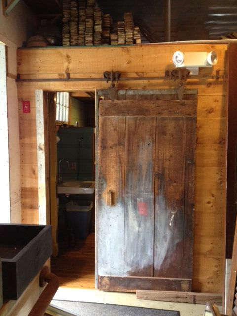 Building A Barn Door Salvaged Hardware From Maine Old House Parts Lucysinspired Building A Barn Door Small Bathroom Furniture Country Bathroom