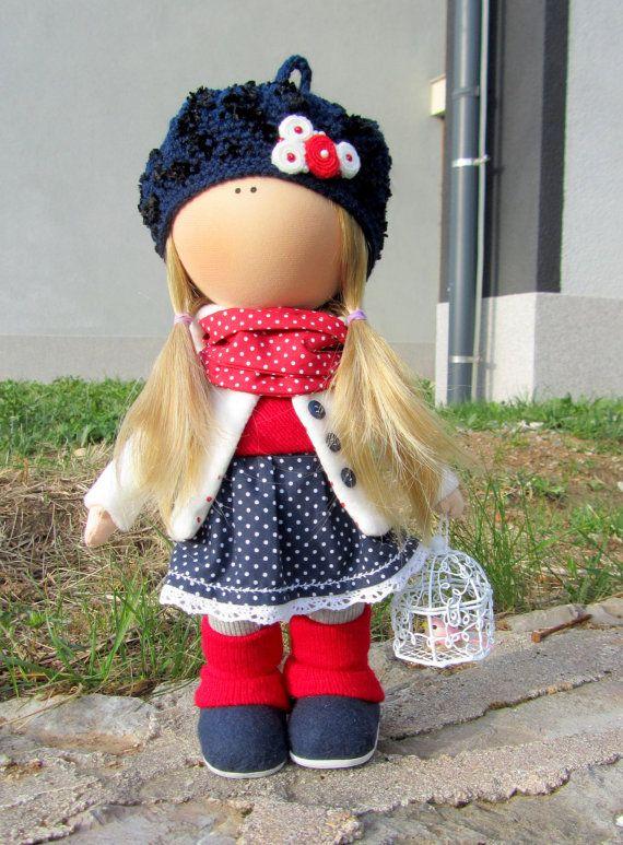 CLOTH DOLL handmade doll fabric doll girl от NICEDOLLSANDRABBITS