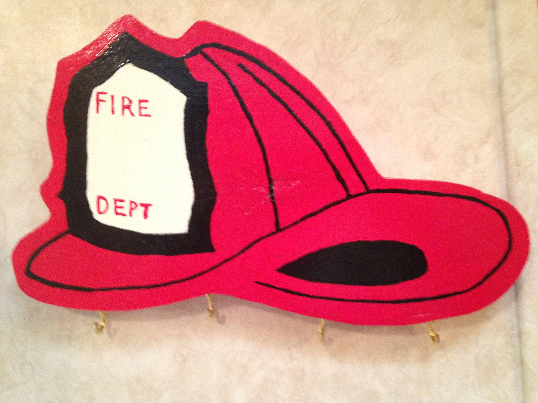 Firefighter Helmet Key Hook by SoMDWoodWorks on Etsy #firefighter #firedepartment #firehelmet #helmet #handmade #keyrack #keyholder #keyhook #keyorganizer #gift #etsy