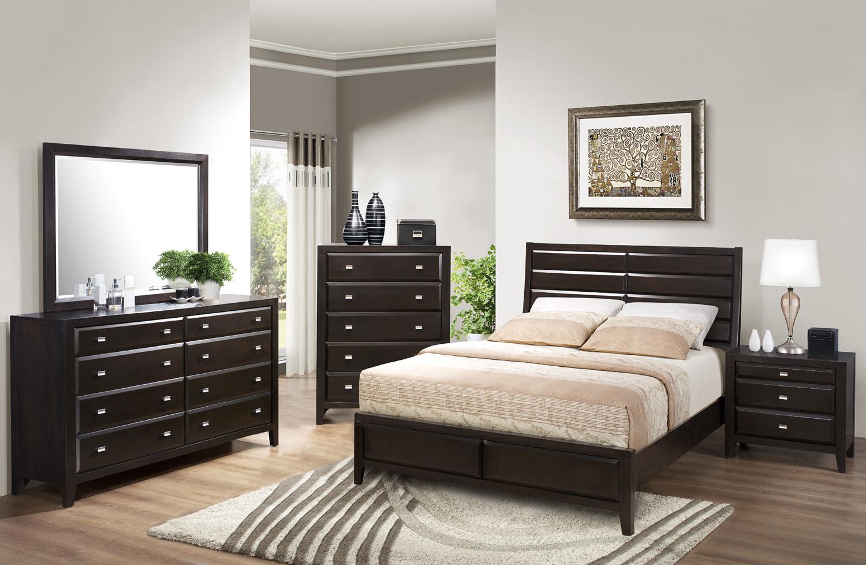 Pinnacle King Low Profile Bed   Crown Mark Furniture ...