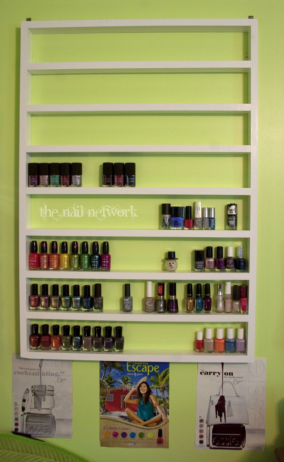 Nail polish rack   A Girl Can Dream   Pinterest