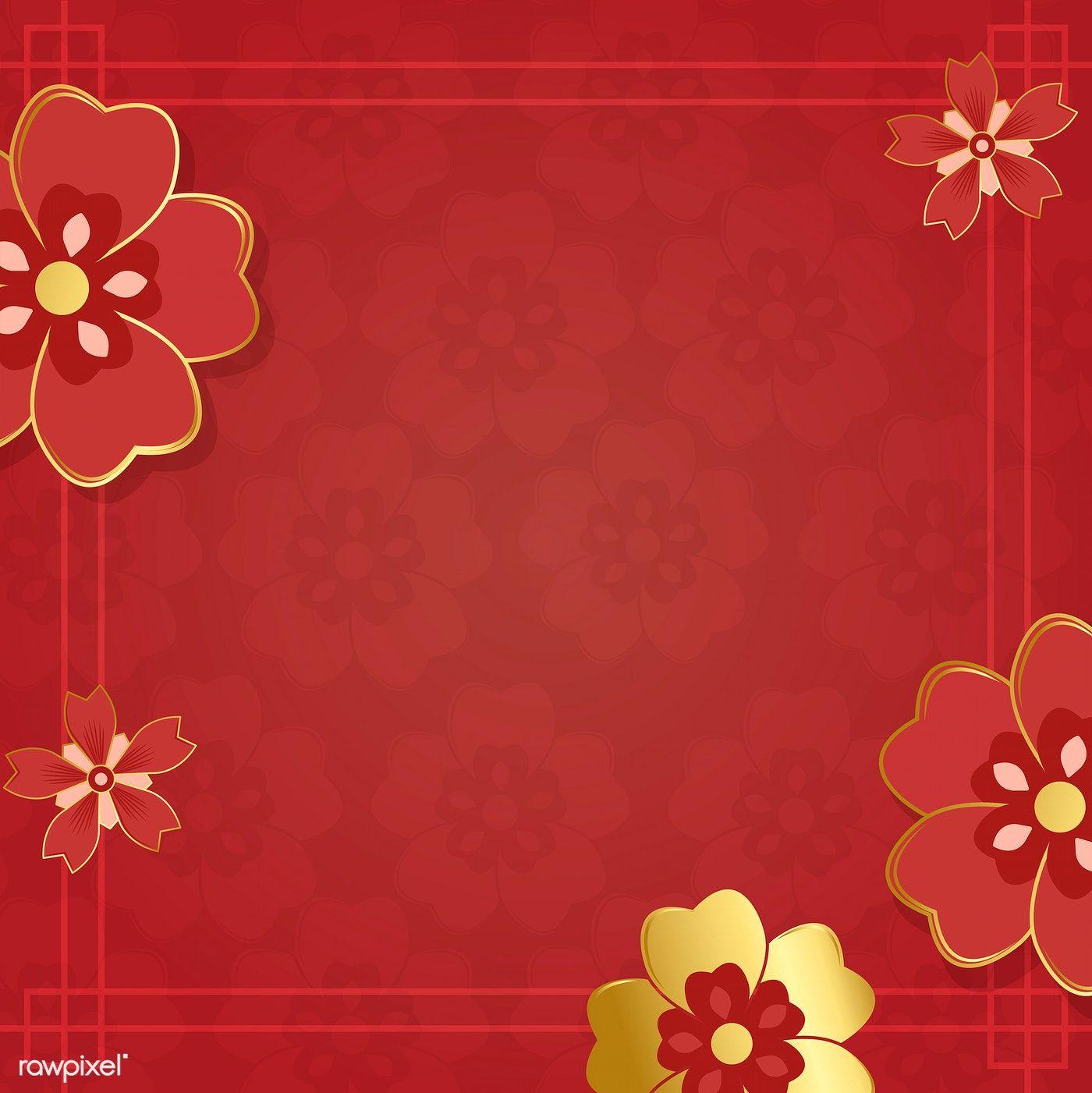 Chinese New Year 2019 Greeting Background Free Image By Rawpixel Com Kappy Kappy Chinese New Year Background Vector Free Chinese Background