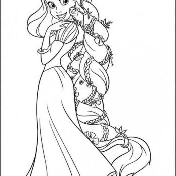 Disney Tangled Princess Rapunzel Coloring Pages stuff to do with