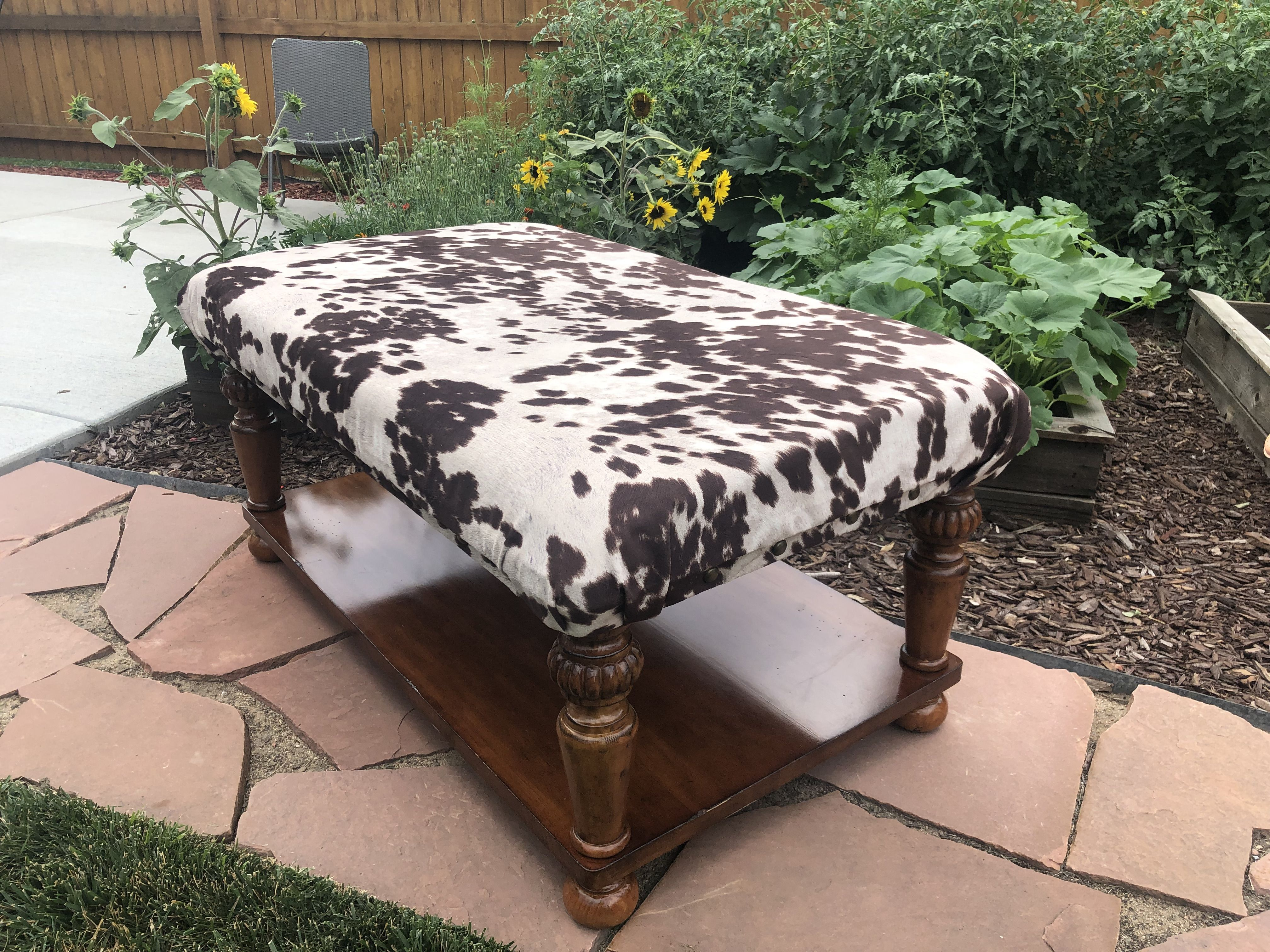 It S A Western Thing Rugged Yet Classy For Sale In Denver Fb Marketplace Cowhide Ottoman Ottoman Coffee Table Ottoman Coffee