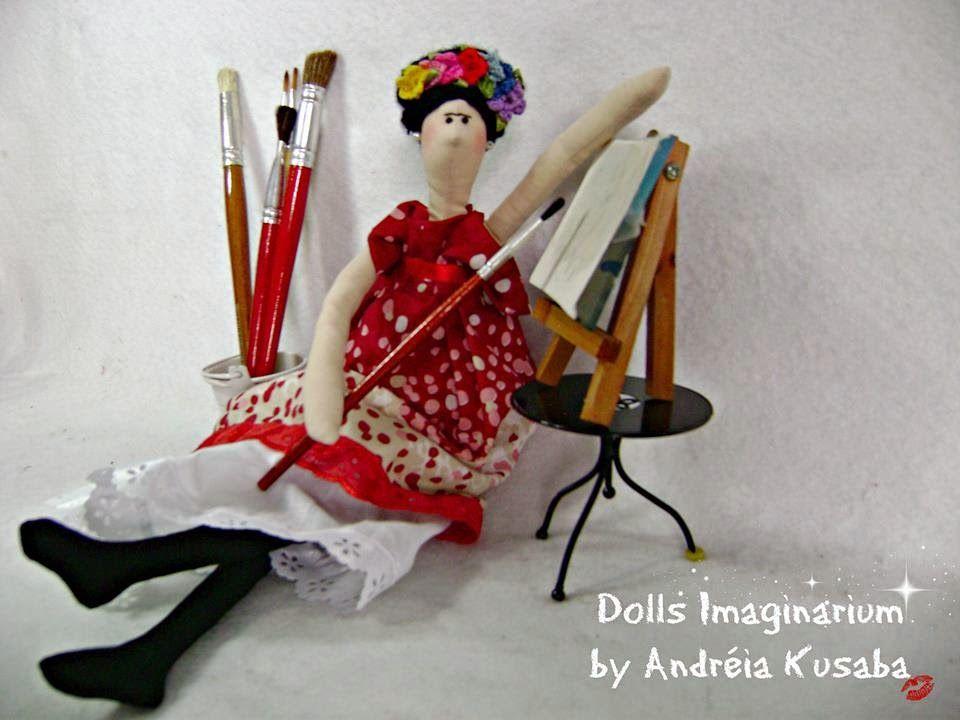 Mimin Dolls: Doll Frida - Inspiração dolls