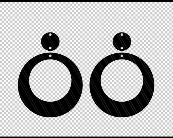 Photo of Circle Earrings svg, Earring svg, Jewelry svg, leather jewelry, Cricut silhouette, Earrings vector, Modern earrings-svg,dxf,ai,eps,png,pdf