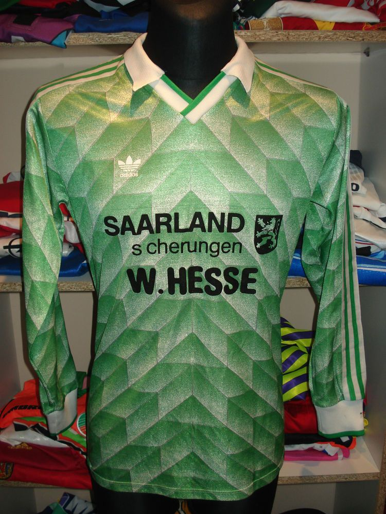 VINTAGE 1980s ADIDAS SHIRT SIZE M MADE IN WEST GERMANY TRIKOT JERSEY 1988  (d827 34caf0d74