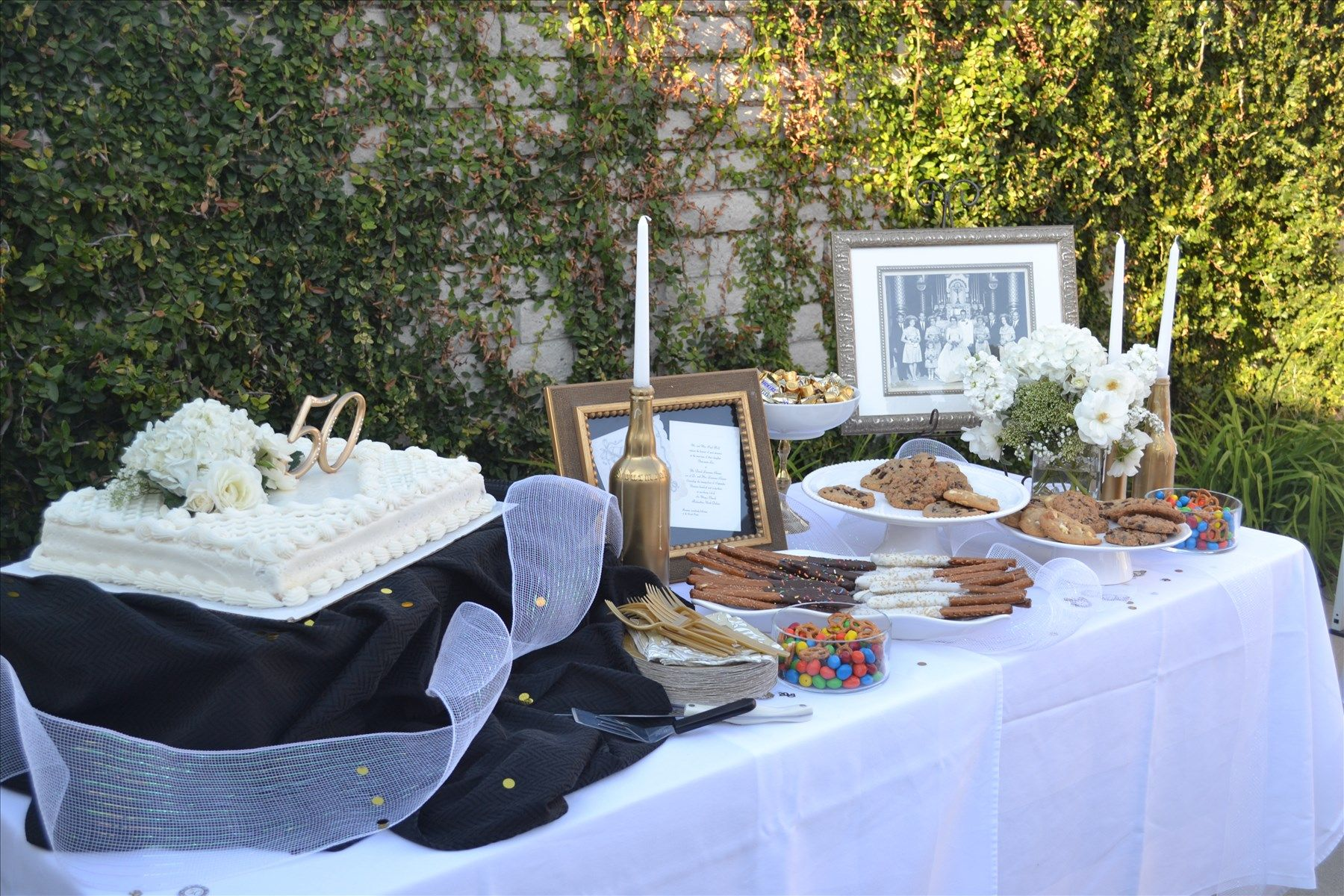 Dave and toni's 50th wedding anniversary dessert table 50th