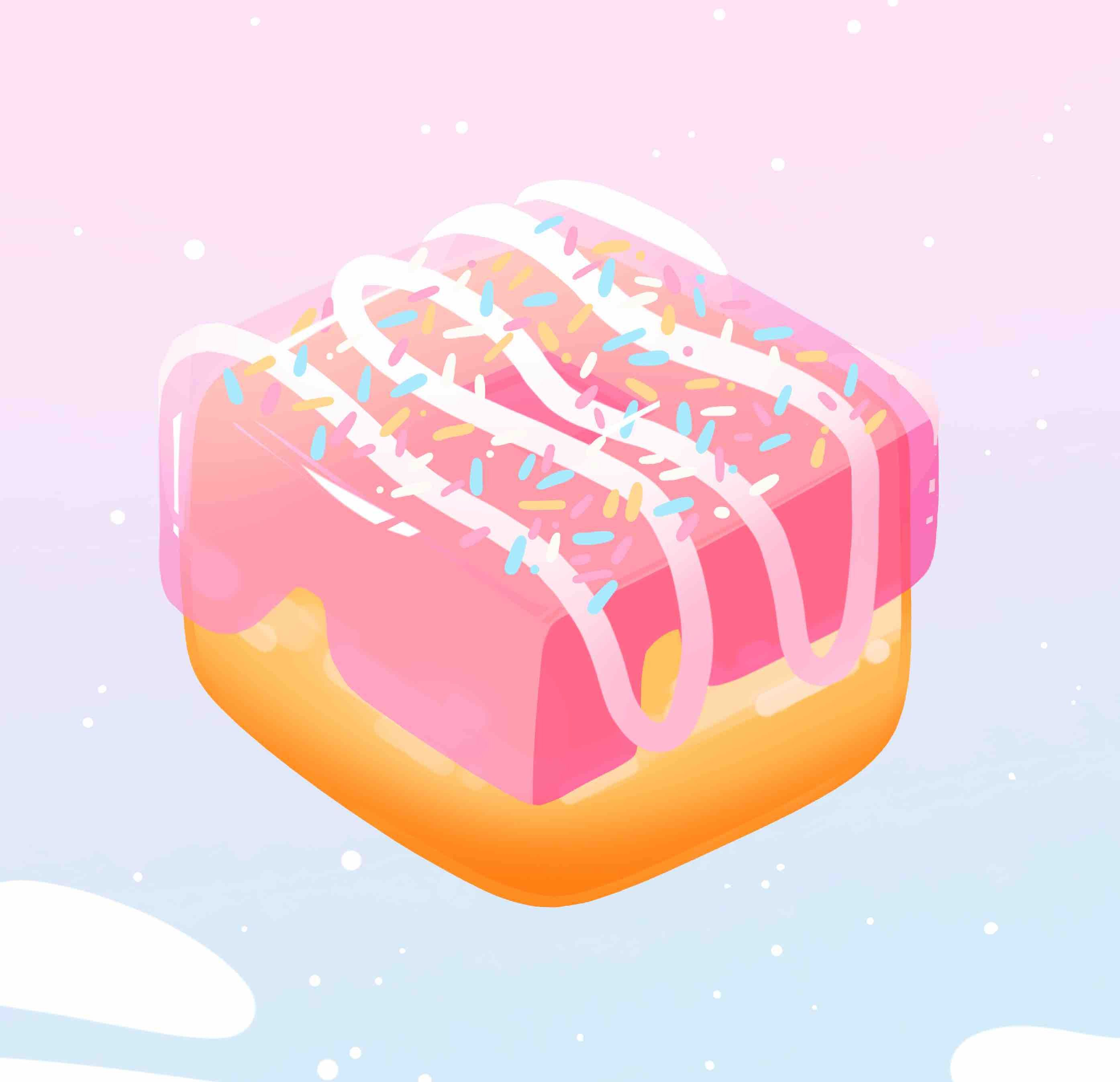 Pink Aesthetic Donut Phone and Desktop Wallpapers iPhone