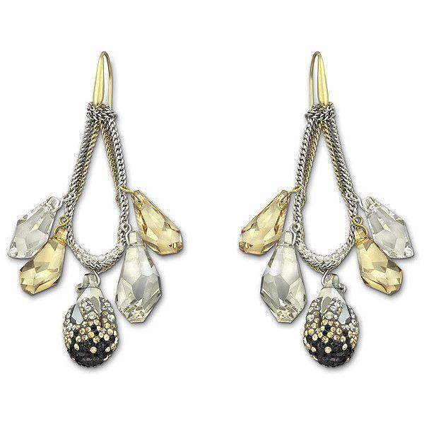 Sketch Pierced Earrings ❤ liked on Polyvore