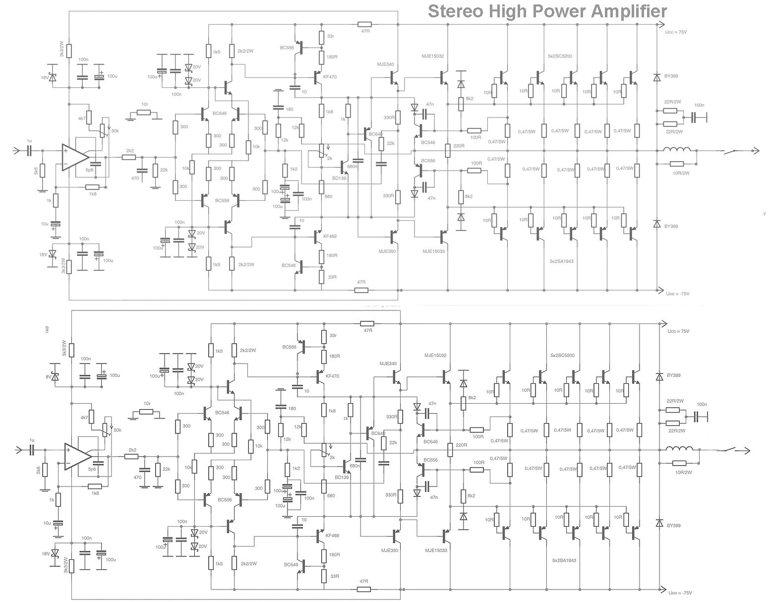 Stk Power Amplifier Circuits 300w Auto Electrical Wiring Diagram Stk457 Circuit Related With