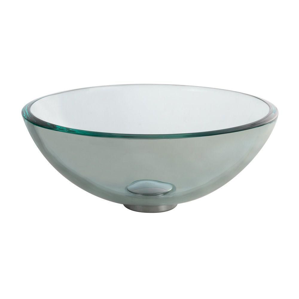 14 Inch Clear Gl Vessel Sink Home Depot 119