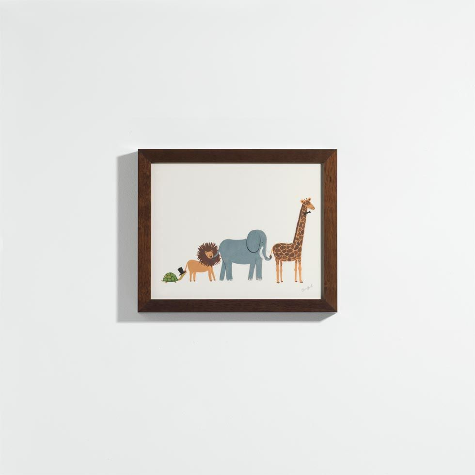 for play room - Animal Parade Print   Unison