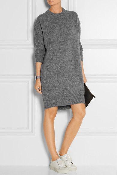 9d7c286c2651 Acne Studios - Robe-pull en laine grise Phebe   à porter avec des tennis  blanches