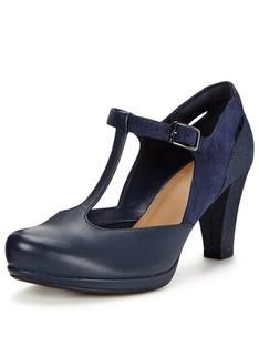 clarks navy suede court shoes
