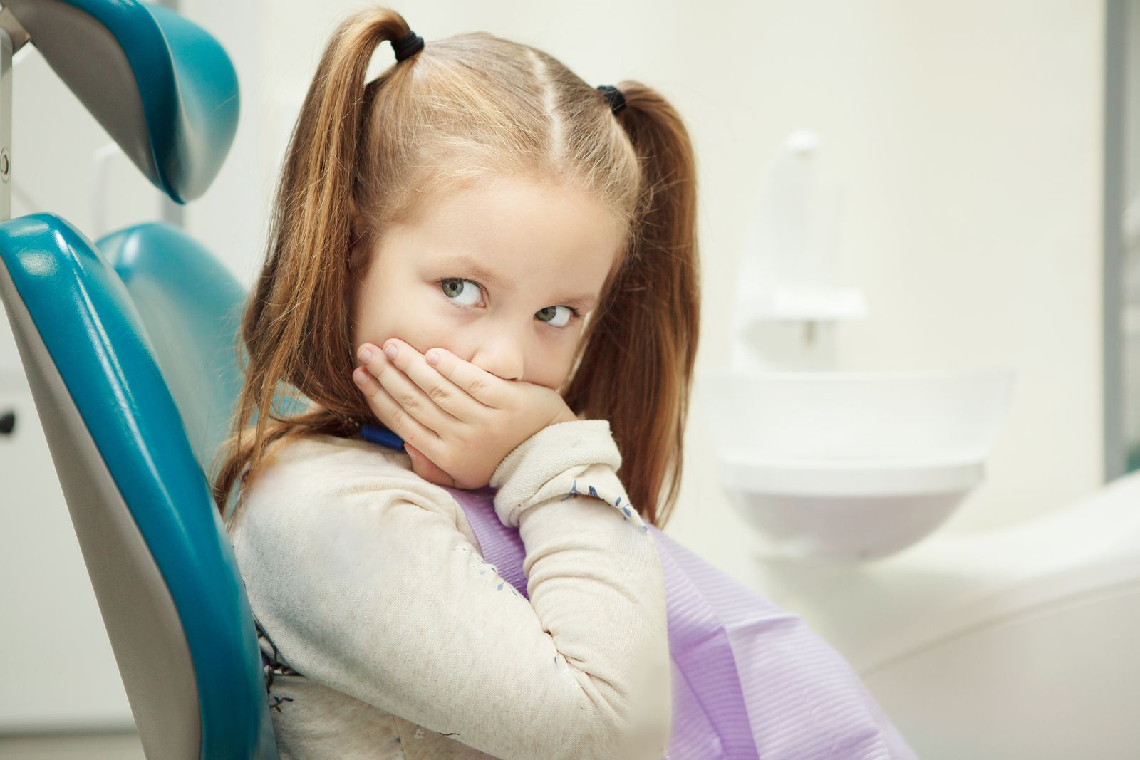 Some kids can be frightened of the dentist for no