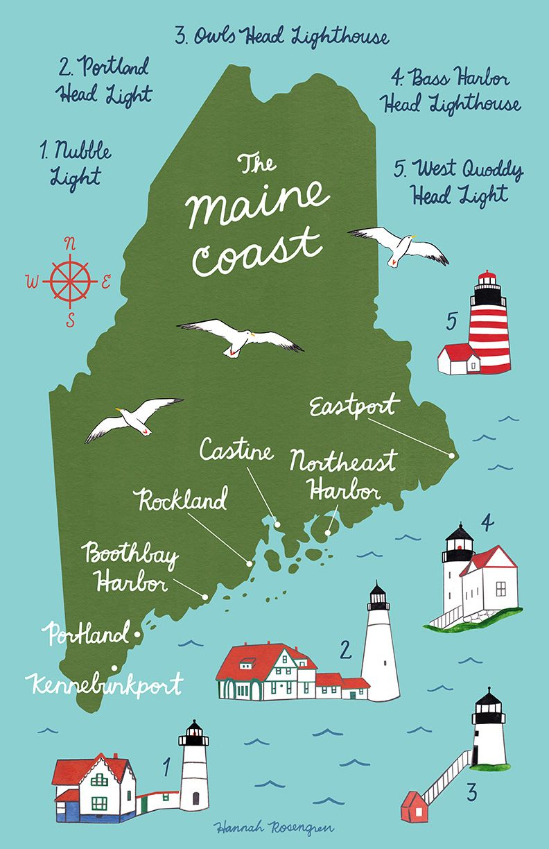 owls head maine map Map Of The Maine Coast Map Art Map Art Print Art Prints owls head maine map