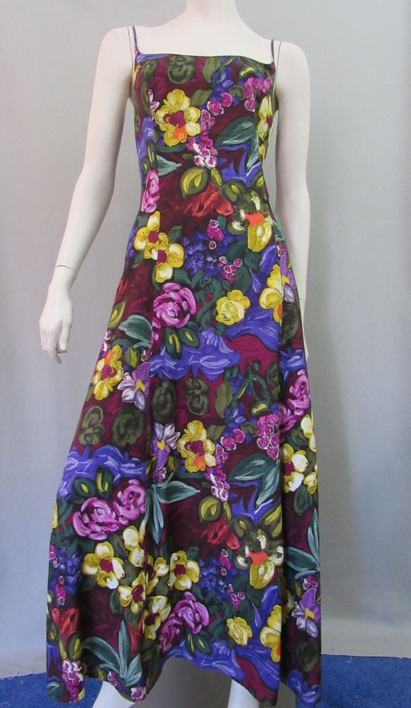 Dennis Goldsmith Dress Size 10 Vintage 80s Style Floral Sundress ...
